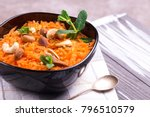 traditional indian cuisine.... | Shutterstock . vector #796510579