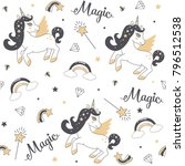 seamless pattern with cute... | Shutterstock .eps vector #796512538