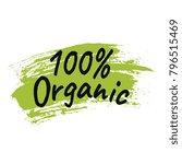 100  organic logo template. | Shutterstock .eps vector #796515469
