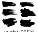 painted grunge stripes set.... | Shutterstock .eps vector #796517560