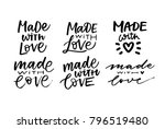 made with love lettering | Shutterstock .eps vector #796519480