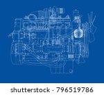 car engine. vector eps10 format ... | Shutterstock .eps vector #796519786