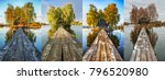four seasons. hut on a small... | Shutterstock . vector #796520980