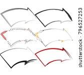 set of  abstract outline arrow...   Shutterstock .eps vector #796527253