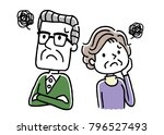senior couple  anxiety  worry ...   Shutterstock .eps vector #796527493