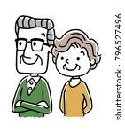 senior couple  old age  future  ... | Shutterstock .eps vector #796527496