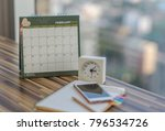 open notebook calendar february ... | Shutterstock . vector #796534726