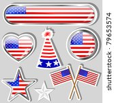 collection of independence day... | Shutterstock .eps vector #79653574