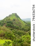 hilly rural landscape view from ... | Shutterstock . vector #796536754