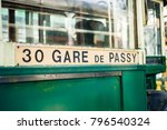old parisian tram with tourist... | Shutterstock . vector #796540324