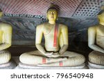 group of sitting buddha statues ... | Shutterstock . vector #796540948