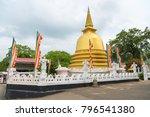 golden buddhist dagoda or stupa ... | Shutterstock . vector #796541380