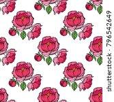 seamless flower pattern for... | Shutterstock .eps vector #796542649