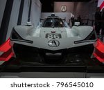 Small photo of DETROIT, US - JANUARY 15, 2018: Acura IMSA prototype race car on display during the North American International Auto Show at the Cobo Center in downtown Detroit.