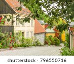 Old Wooden Houses In The...