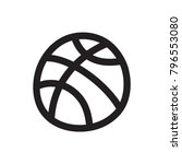 doodle basketball icon | Shutterstock .eps vector #796553080