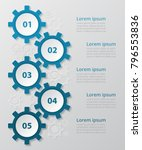 step by step infographic. blue... | Shutterstock .eps vector #796553836