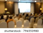 blur of seminar room in... | Shutterstock . vector #796553980
