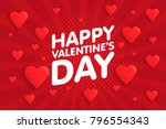 happy valentine's day vintage... | Shutterstock .eps vector #796554343