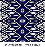 geometric folklore ornament.... | Shutterstock .eps vector #796554826