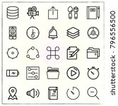 web interface line icons set... | Shutterstock .eps vector #796556500