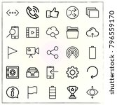 web interface line icons set... | Shutterstock .eps vector #796559170