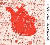 vector greeting valentine card...   Shutterstock .eps vector #796565230