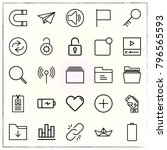 web interface line icons set... | Shutterstock .eps vector #796565593
