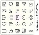 web interface line icons set... | Shutterstock .eps vector #796565764