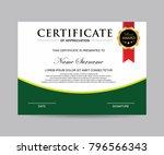 modern certificate vector | Shutterstock .eps vector #796566343
