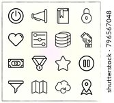 web interface line icons set... | Shutterstock .eps vector #796567048