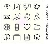 web interface line icons set... | Shutterstock .eps vector #796567168