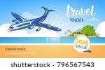 travel company template voucher ... | Shutterstock .eps vector #796567543