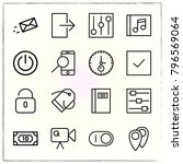 web interface line icons set... | Shutterstock .eps vector #796569064