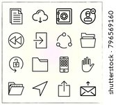 web interface line icons set... | Shutterstock .eps vector #796569160