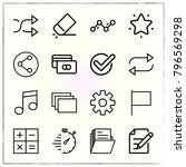web interface line icons set... | Shutterstock .eps vector #796569298
