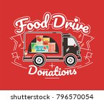 food drive non perishable food... | Shutterstock .eps vector #796570054