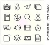 web interface line icons set... | Shutterstock .eps vector #796570300