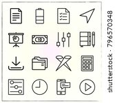 web interface line icons set... | Shutterstock .eps vector #796570348