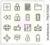 web interface line icons set... | Shutterstock .eps vector #796570360