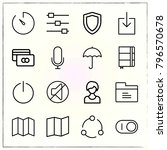 web interface line icons set... | Shutterstock .eps vector #796570678