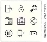 web interface line icons set... | Shutterstock .eps vector #796574194
