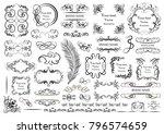 set of vector graphic elements... | Shutterstock .eps vector #796574659