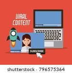 viral content video start...   Shutterstock .eps vector #796575364
