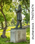 Small photo of Belgrade, Serbia May 18, 2016: Monument to Vasa Pelagic in Karadjordjev Park, Belgrade. He was a Bosnian Serb writer, physician, educator, clergyman, nationalist and a proponent of utopian socialism.