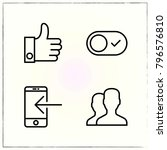 web interface line icons set... | Shutterstock .eps vector #796576810