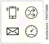 web interface line icons set... | Shutterstock .eps vector #796576888