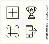 web interface line icons set... | Shutterstock .eps vector #796577614