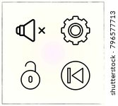 web interface line icons set... | Shutterstock .eps vector #796577713