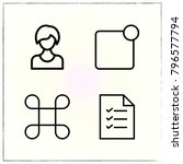 web interface line icons set... | Shutterstock .eps vector #796577794